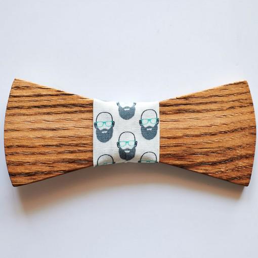Pajarita madera casta o barbudo pajaritas de madera - Madera de castano ...